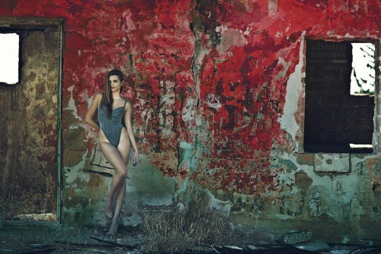women, Model, Brunette, High heels, Women outdoors HD Wallpaper Desktop Background