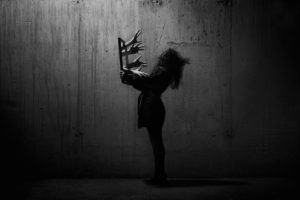 dark, Concrete, Photo manipulation, People, Women, Abstract, Hand