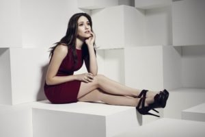 Emmy Rossum, Dress, Red dress, Women, High heels, Actress