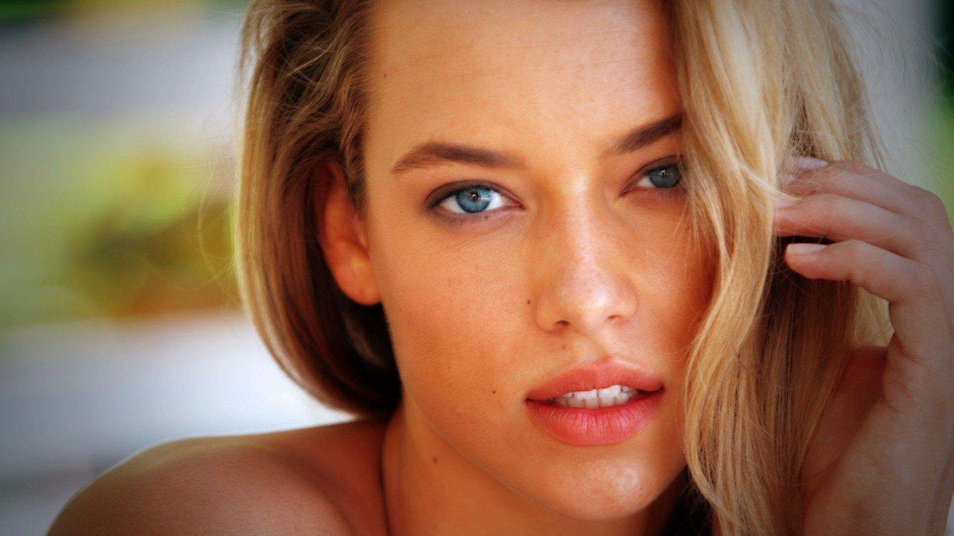 Women Blonde Blue Eyes Face Hannah Ferguson Hd Wallpapers
