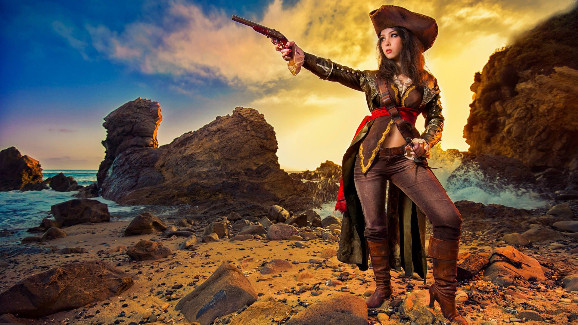 Monika Lee Assassins Creed Cosplay Hd Wallpapers Desktop And