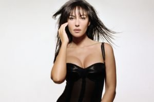 Monica Bellucci, Women, White background, Brunette