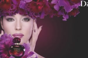 Monica Bellucci, Commercial, Portrait, Flowers, Advertisements, Dior