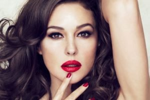 Monica Bellucci, Red lipstick, Lipstick, Women, Model, Brunette