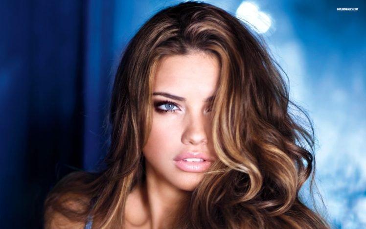Adriana Lima, Women, Model, Brunette, Blue eyes, Face HD Wallpaper Desktop Background