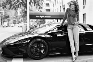 car, Model, Monochrome, Emily DiDonato