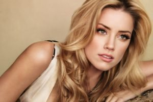 Amber Heard, Women, Long hair, Green eyes, Curly hair