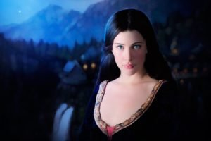 Arwen, Liv Tyler, Women, Blue eyes, The Lord of the Rings, Face, Elves, Dress