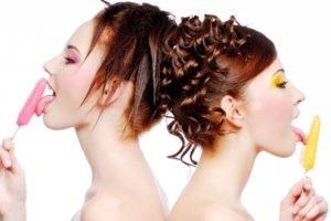 women, Phallic symbol, Redhead, Licking, Innuendo