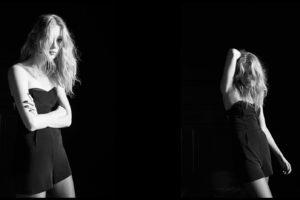 Bershka, Women, Blonde, Model