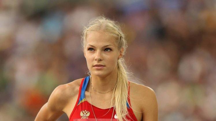 Darya Klishina, Women, Blonde, Athletes, Sport HD Wallpaper Desktop Background