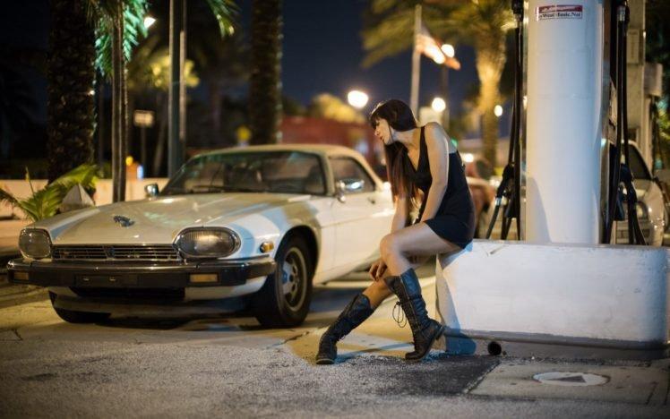model, Car, Women, Vehicle, Jaguar, Jaguar XJS HD Wallpaper Desktop Background