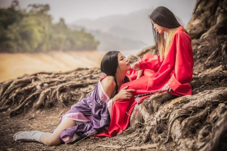 women, Lovers, Asian HD Wallpaper Desktop Background