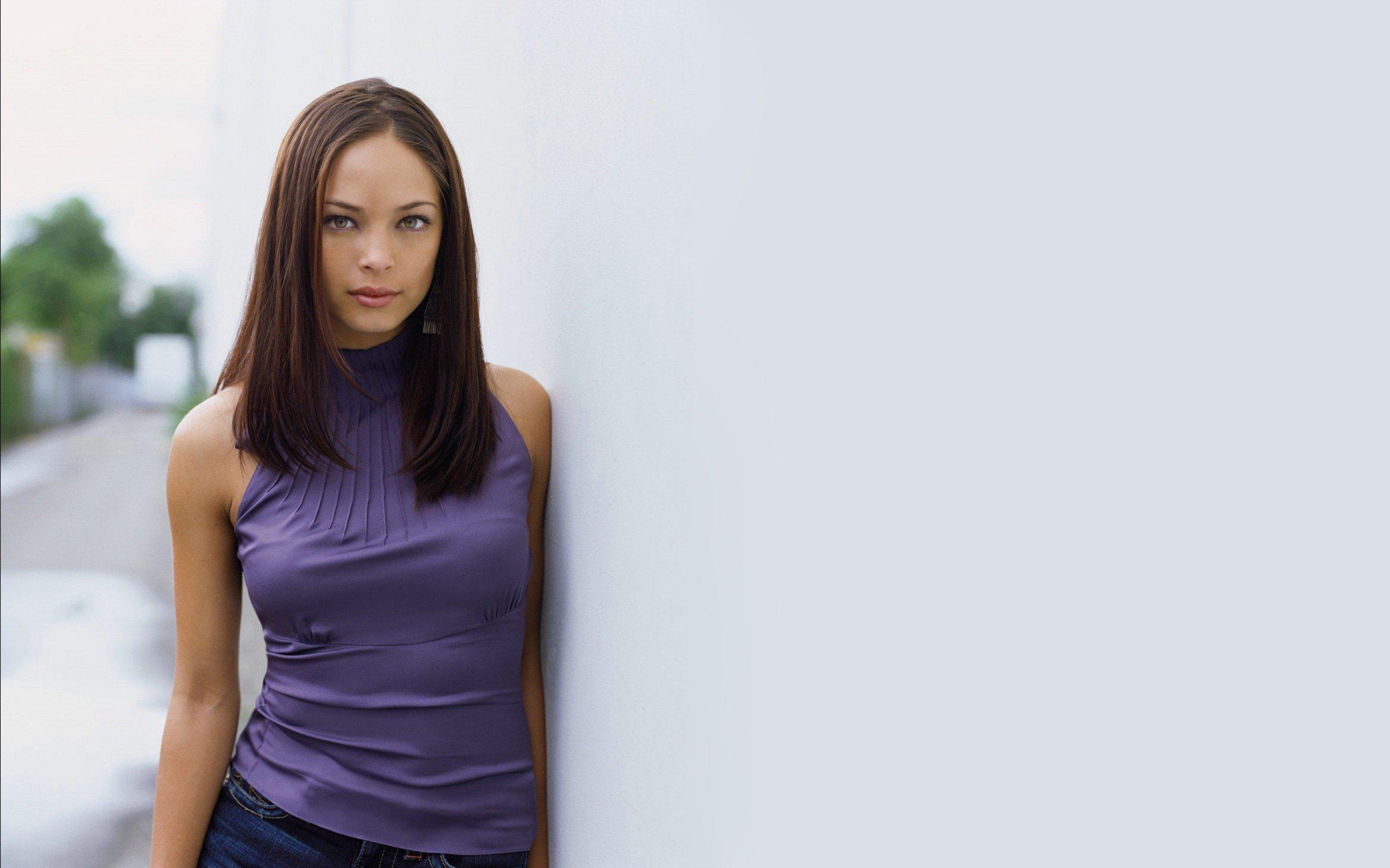 brunette, Kristin Kreuk, Actress, Blouses, Women Wallpaper