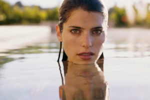 Lake Bell, Women, Brunette, Face, Wet, Wet hair