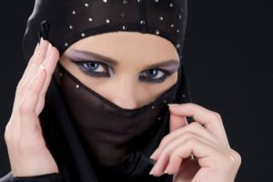 veils, Blue eyes, Women