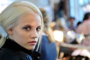 Ginta Lapina, Women, Blonde, Model, Face, Blue eyes