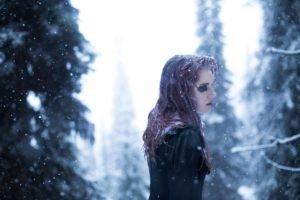 women, Snow