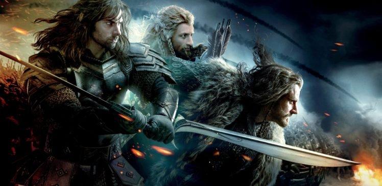 movies, The Hobbit, The Hobbit: The Battle of the Five Armies, Thorin Oakenshield, Dwarfs HD Wallpaper Desktop Background