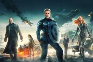 Captain America: The Winter Soldier, Chris Evans, Scarlett Johansson, Samuel L. Jackson, Nick Fury, Black Widow, Bucky Barnes, Steve Rogers