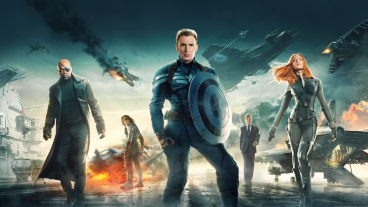 Captain America The Winter Soldier Chris Evans Scarlett Johansson