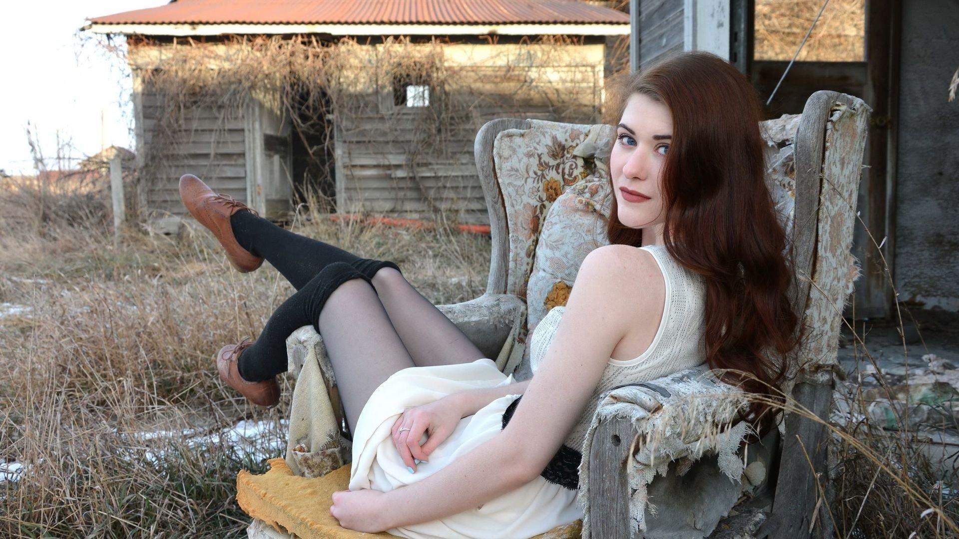 Women, Model, Brunette, Women Outdoors, Looking At Viewer -4267