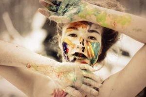 face, Women, Body paint