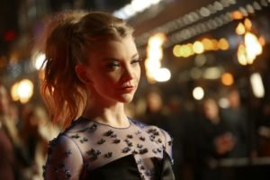 Natalie Dormer, Women, Blonde, Actress, Blue eyes, Ponytail, Face