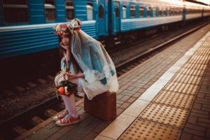 women, Train