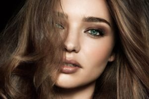 Miranda Kerr, Women, Model, Face, Brunette, Blue eyes