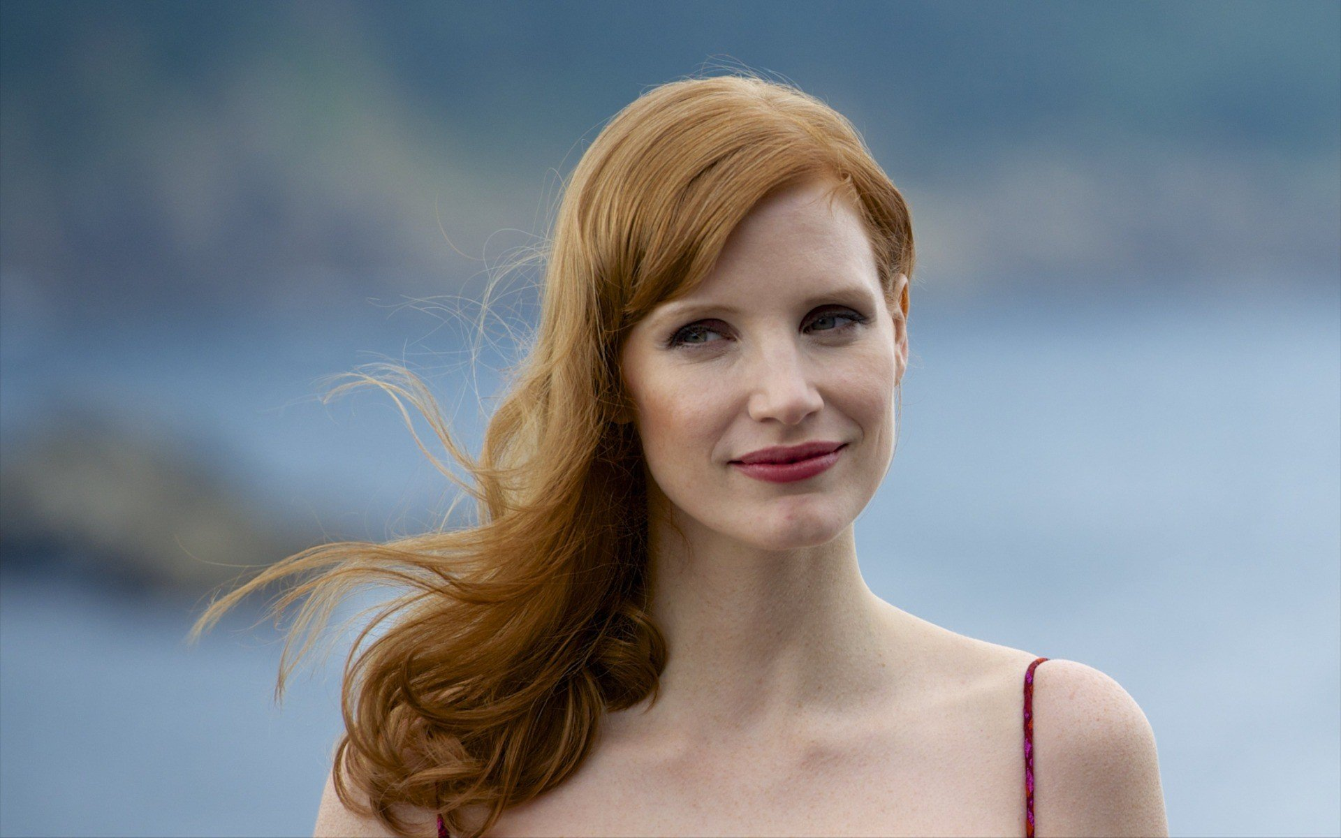 Actress Wallpaper For Mobile 26: Jessica Chastain, Women, Redhead, Actress, Face HD