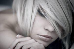blonde, Women, Face, Filter