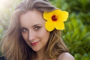 portrait, Flowers