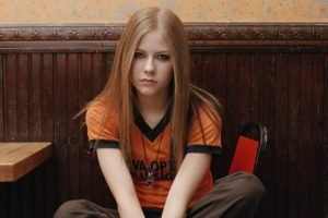 Avril Lavigne, Women, Blonde, Blue eyes, T shirt
