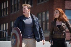 Captain America: The Winter Soldier, Scarlett Johansson, Chris Evans, Steve Rogers