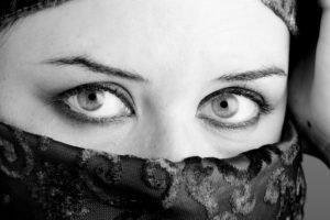 eyes, Veils, Women