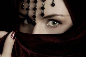 eyes, Green eyes, Veils