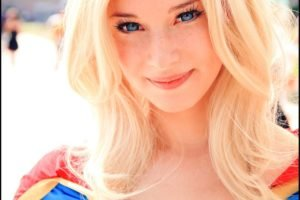 Supergirl, Blonde, Blue eyes, Enji night, Women