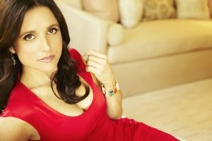 Julia Louis Dreyfus, Brunette, Actress, Red dress