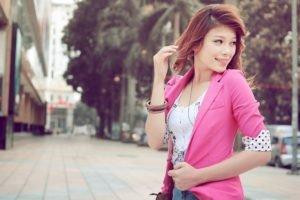 women, Redhead, Asian