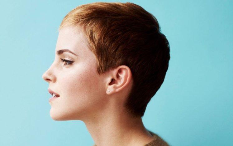 Emma Watson, Women, Actress, Face, Short hair HD Wallpaper Desktop Background