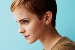 Emma Watson, Women, Actress, Face, Short hair, Freckles