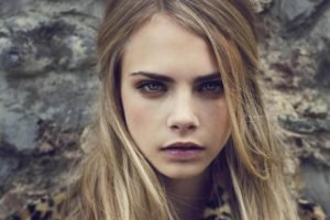 Cara Delevingne, Women, Blonde, Face, Blue eyes