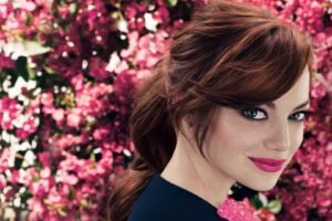 Emma Stone, Face, Blue eyes, Actress