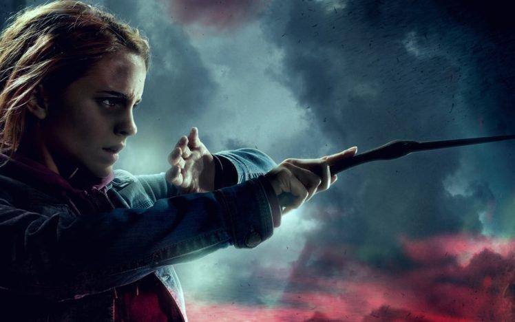 Emma Watson, Women, Harry Potter, Movies, Wizard, Hermione Granger HD Wallpaper Desktop Background