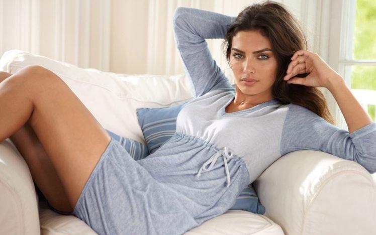 Alyssa Miller, Women, Model, Brunette, Blue eyes HD Wallpaper Desktop Background