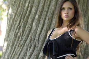 women, Brunette, Brown eyes, Black clothing, Women outdoors, Louisa Marie, Model