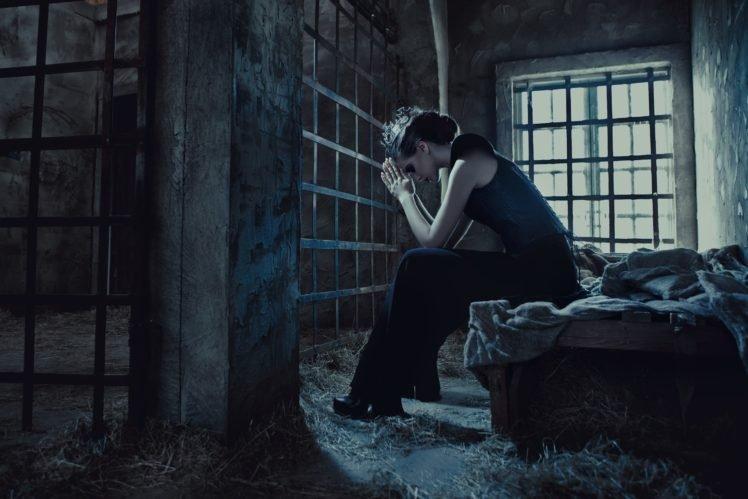 model, Women, Prisons, Jail, Window, Gates HD Wallpaper Desktop Background