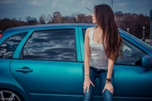 women, Car, Long hair