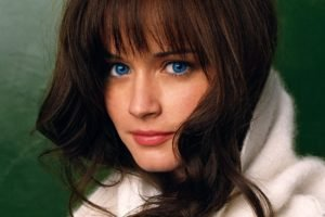 women, Alexis Bledel, Blue eyes, Brunette, Sweater
